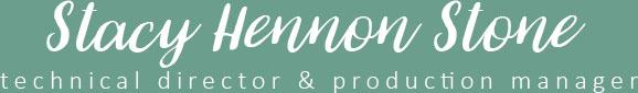 Stacy Hennon Stone :: Stage & Production Management Logo